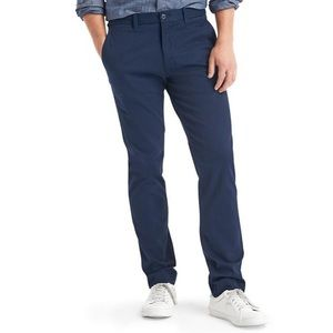 Gap skinny stretch cotton navy chino pant trousers